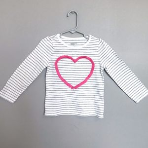 Crazy 8 | 4T Fringe Heart Long Sleeve Top
